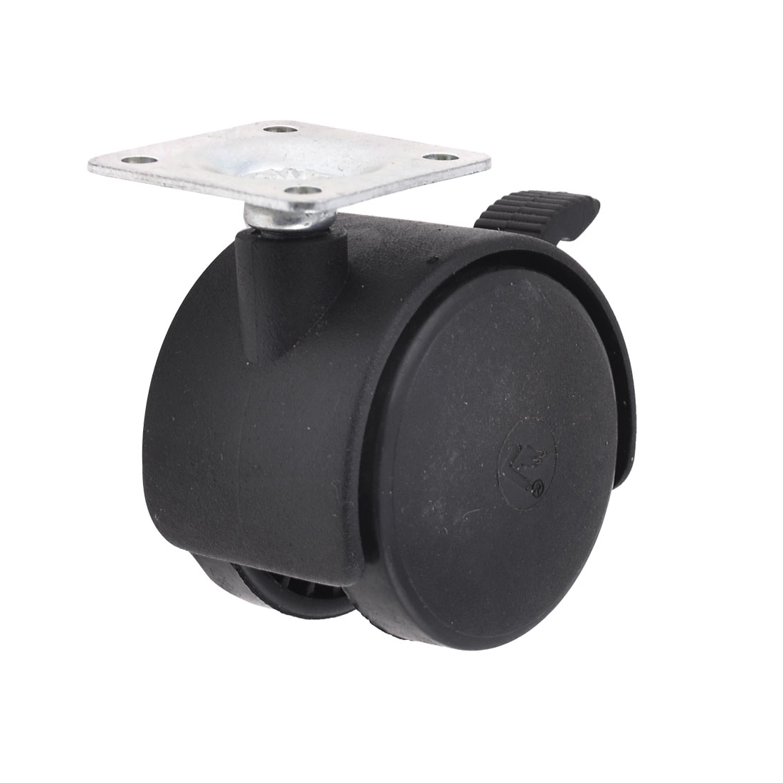 "Furniture 1.9"" Double Nylon Wheel Plate Mount Swivel Caster"