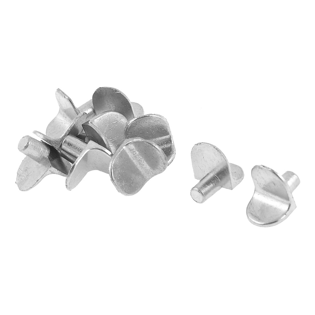 Furniture Hardware Glass Wooden Shelf Support Pin Silver Tone 10pcs