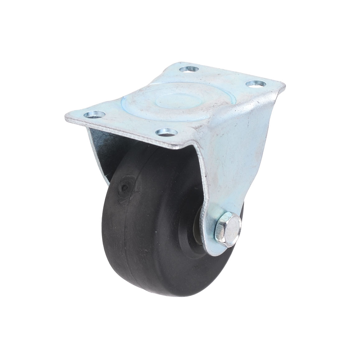 "Sickbed Laundry Cart Swivel Plate 2"" Dia PP Wheel Metal Plate Caster"