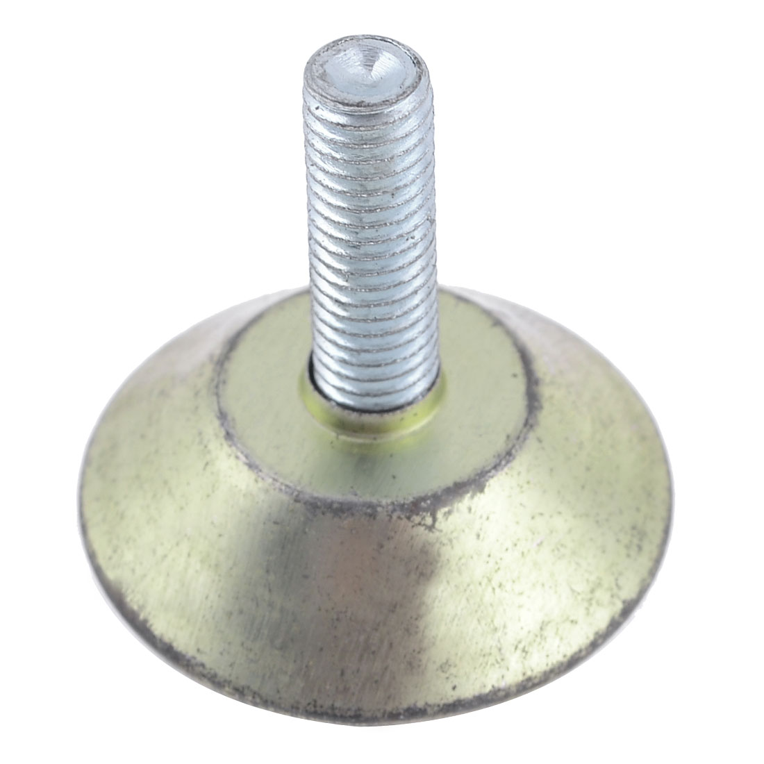 Metal Threaded Rod Round Plastic Base Leveling Foot 8mmx23mmx37mm