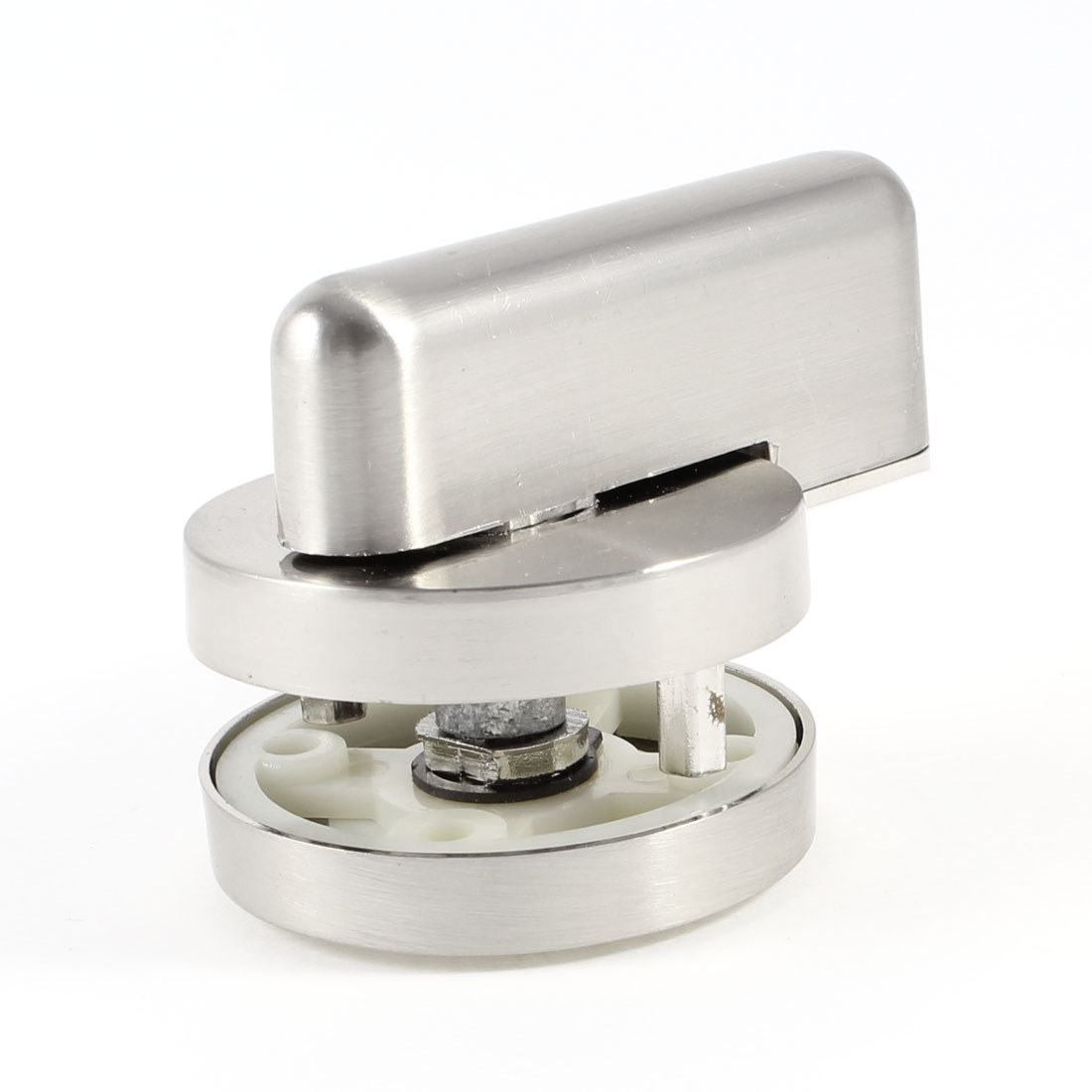 Public Washroom Silver Tone Stainless Steel Rotary Toilet Cubicle Lock