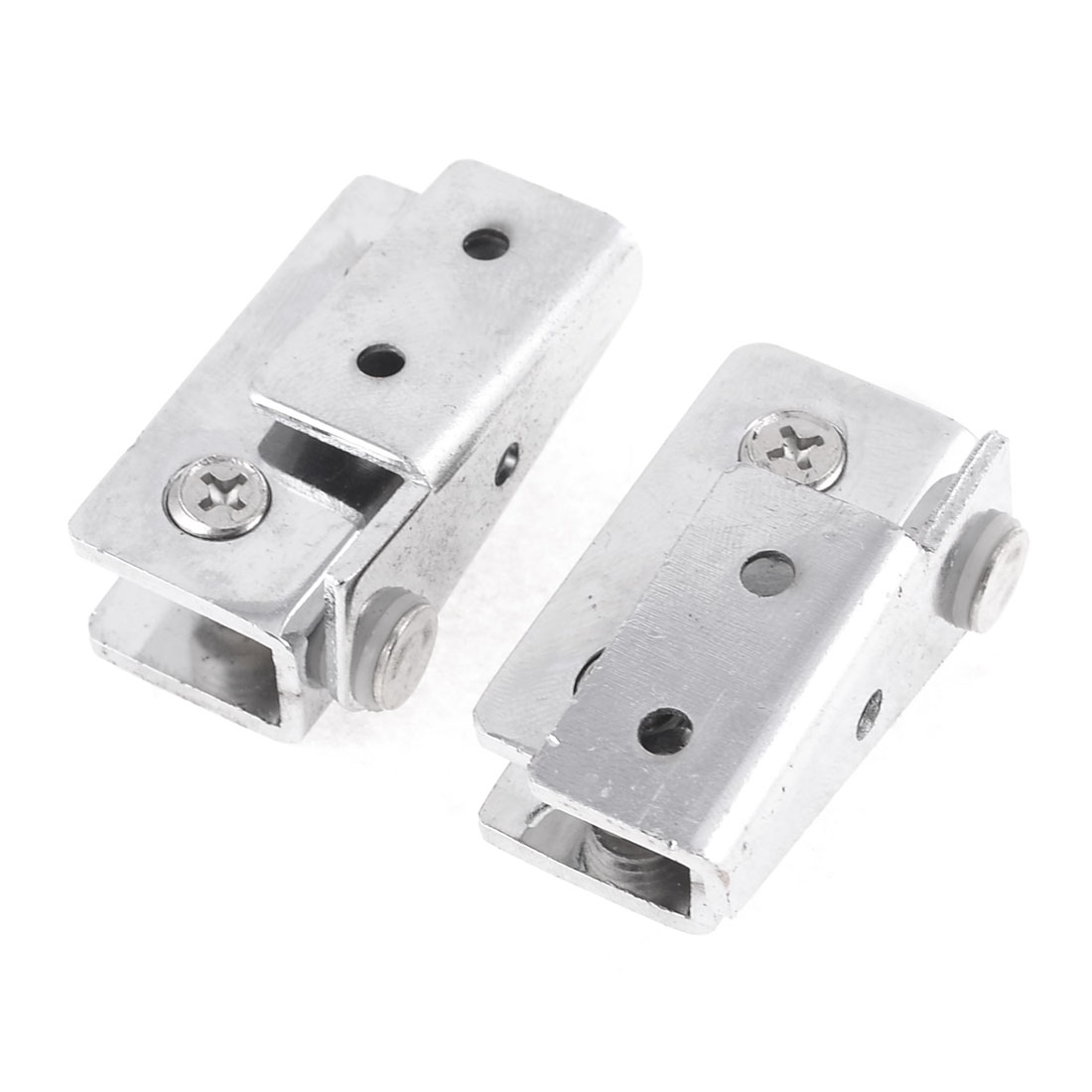 Replacement Metal Door Catch Hinge for 9mm Thickness Glass 2 Pcs
