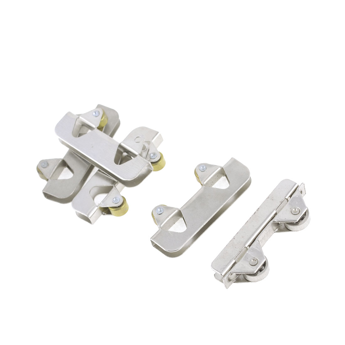 5 Pieces Sliding Door 6mm Dia Dual Rollers Window Sash Pulley Wheel
