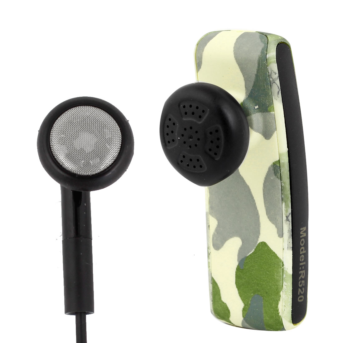 Camouflage Pattern Handfree bluetooth Headset + Earphone + USB Cable