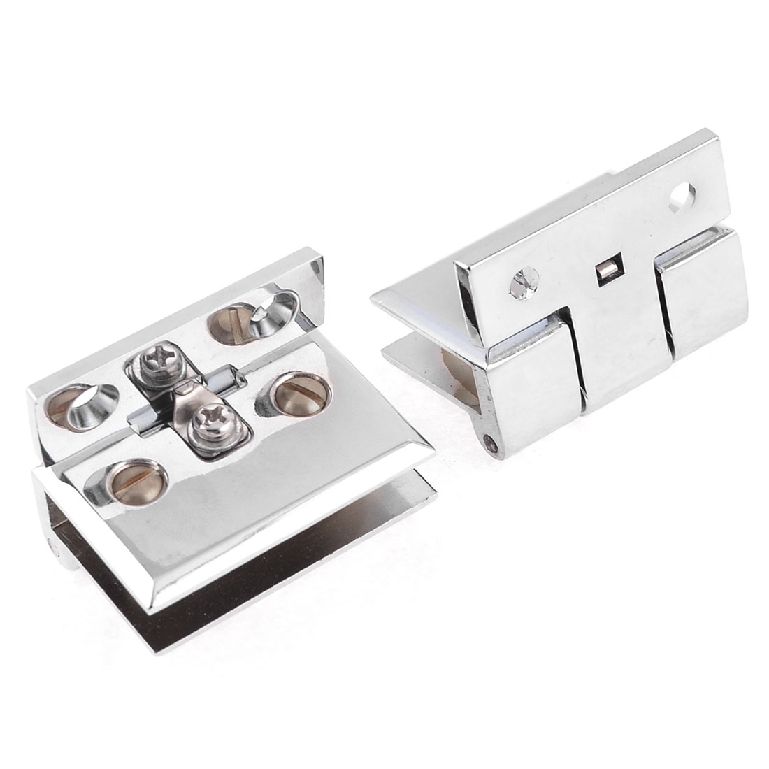 """Pair 3.5"""" Glass Thickness Stainless Steel Glass Clamp Silver Tone"""