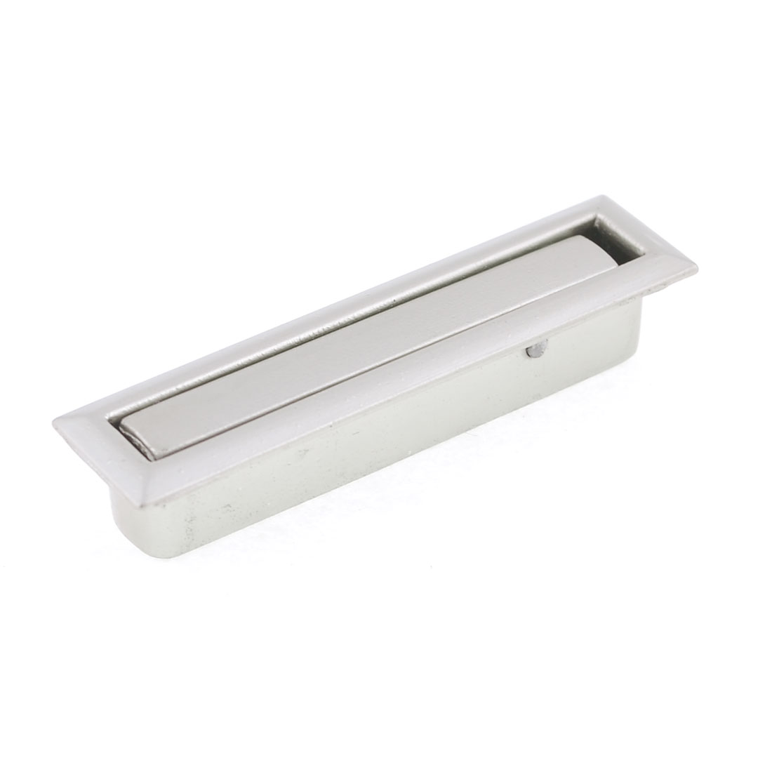 5cm Length Panel Metal Component Cabinet Door Pull Handle Silver Tone