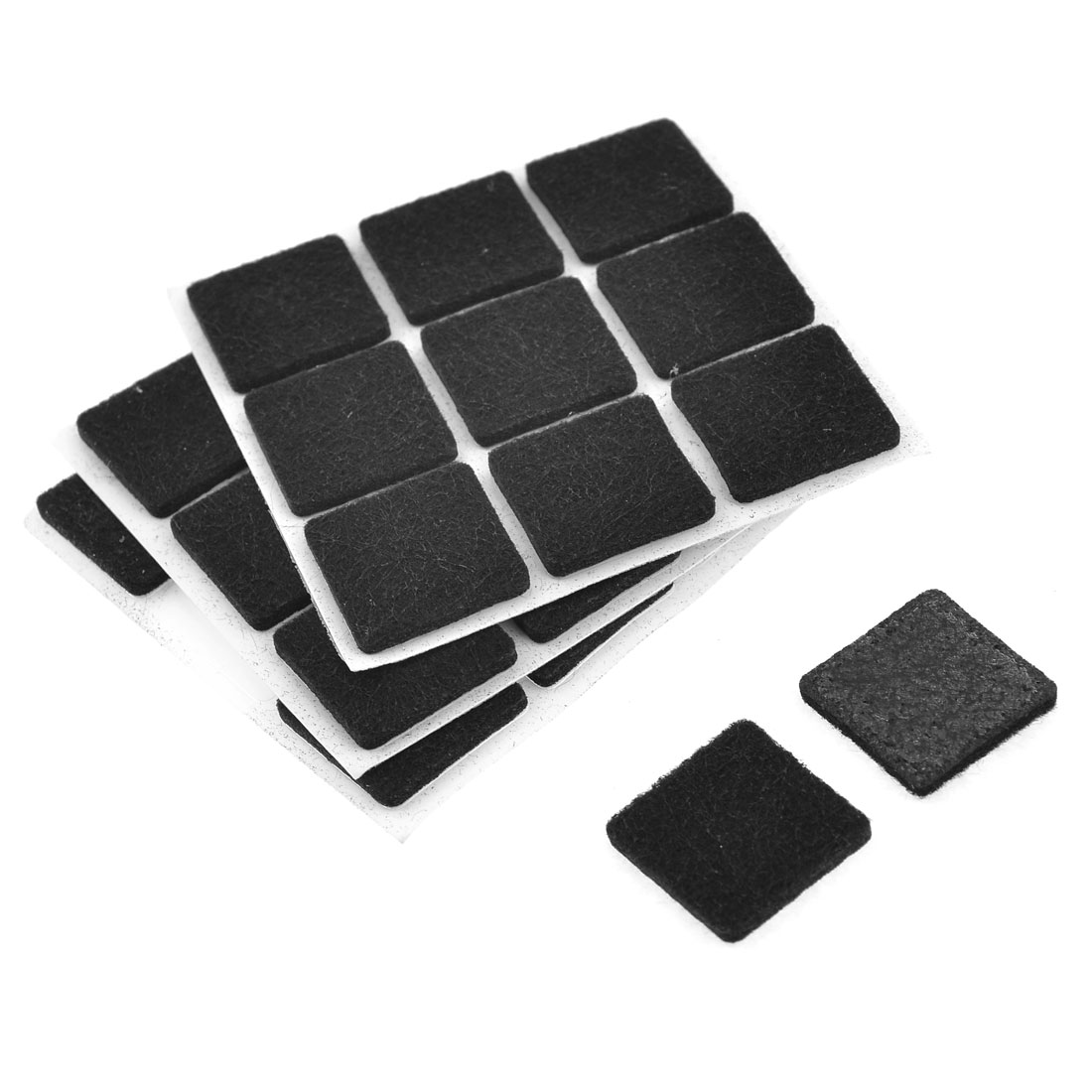 27 Pcs Black Square Corner Tables Chairs Protection Square Mat Pad 2cm x 2cm