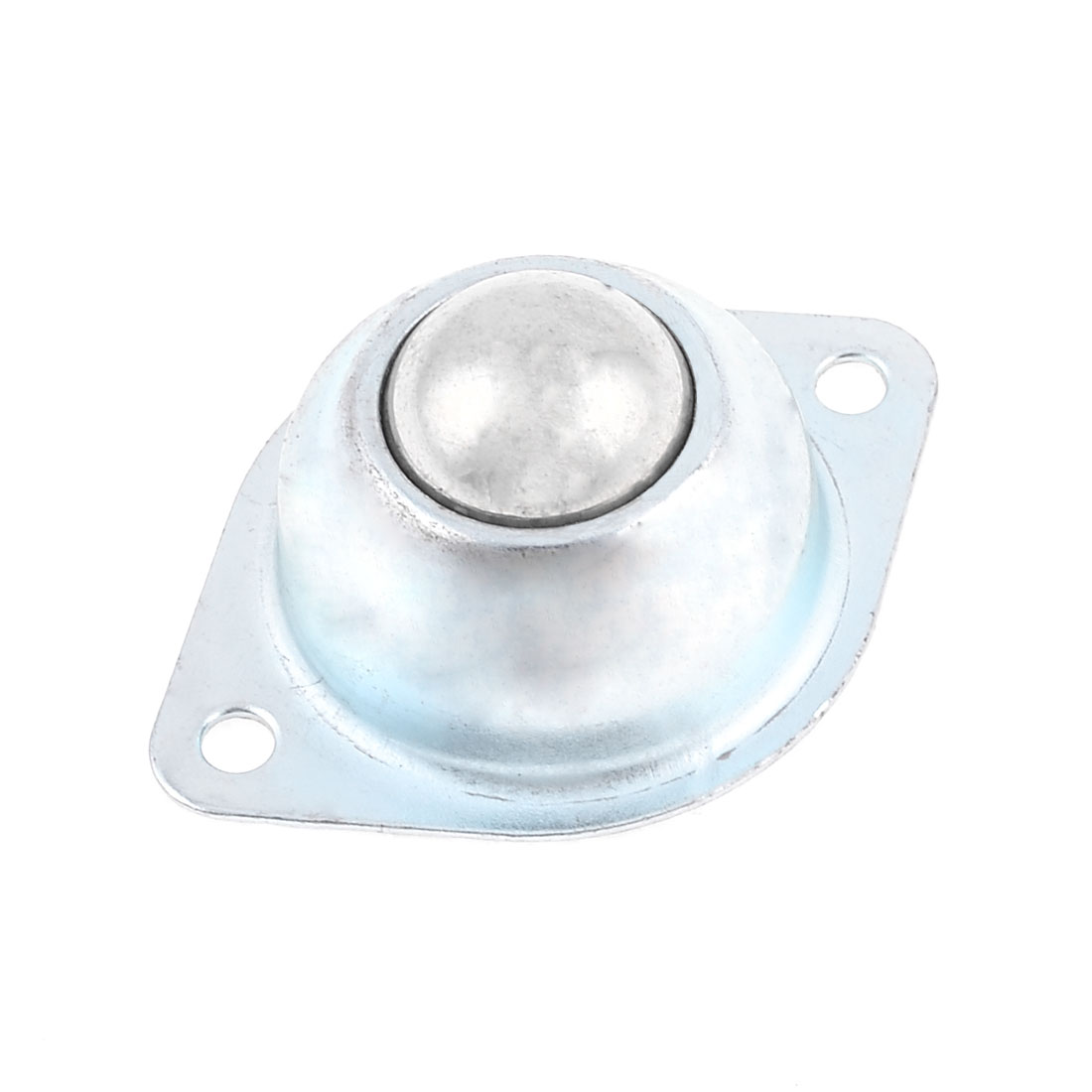 "0.9"" Dia Silver Tone Light Duty Flat Plate Rotation Industrial Caster"