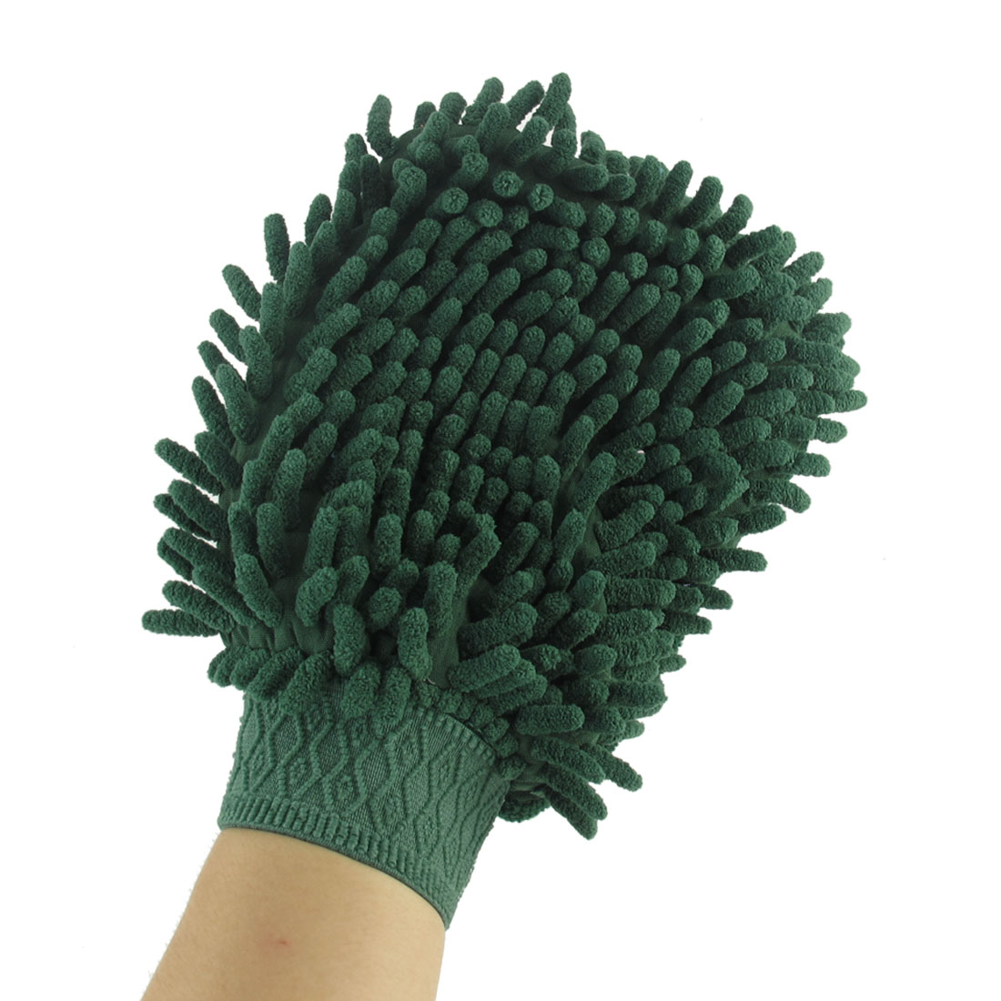 Car Furniture Green Microfiber Chenille Washing Cleaning Mitt Brush Glove