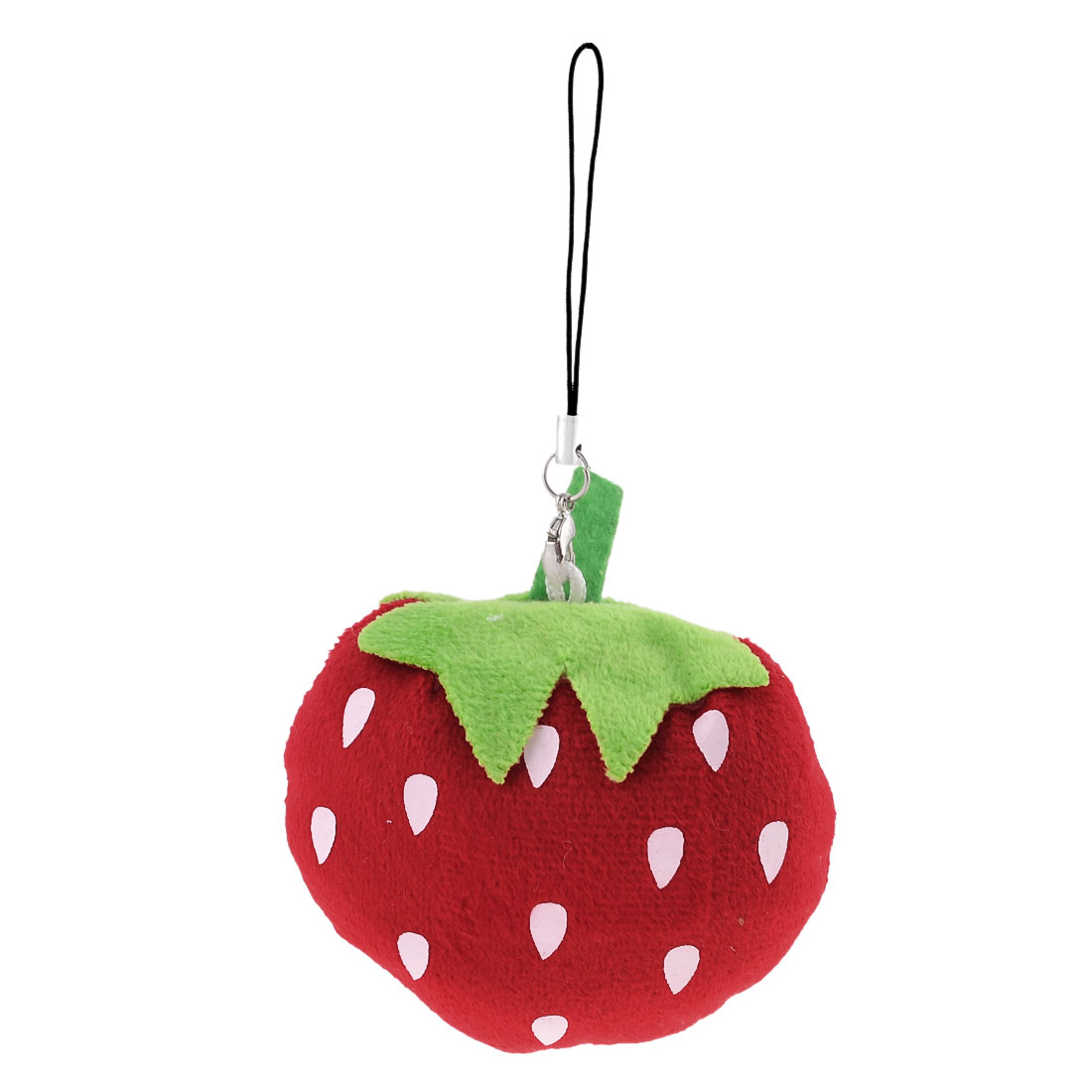 Cotton Blend Cartoon Red Green Strawberry Pendant for Handbag
