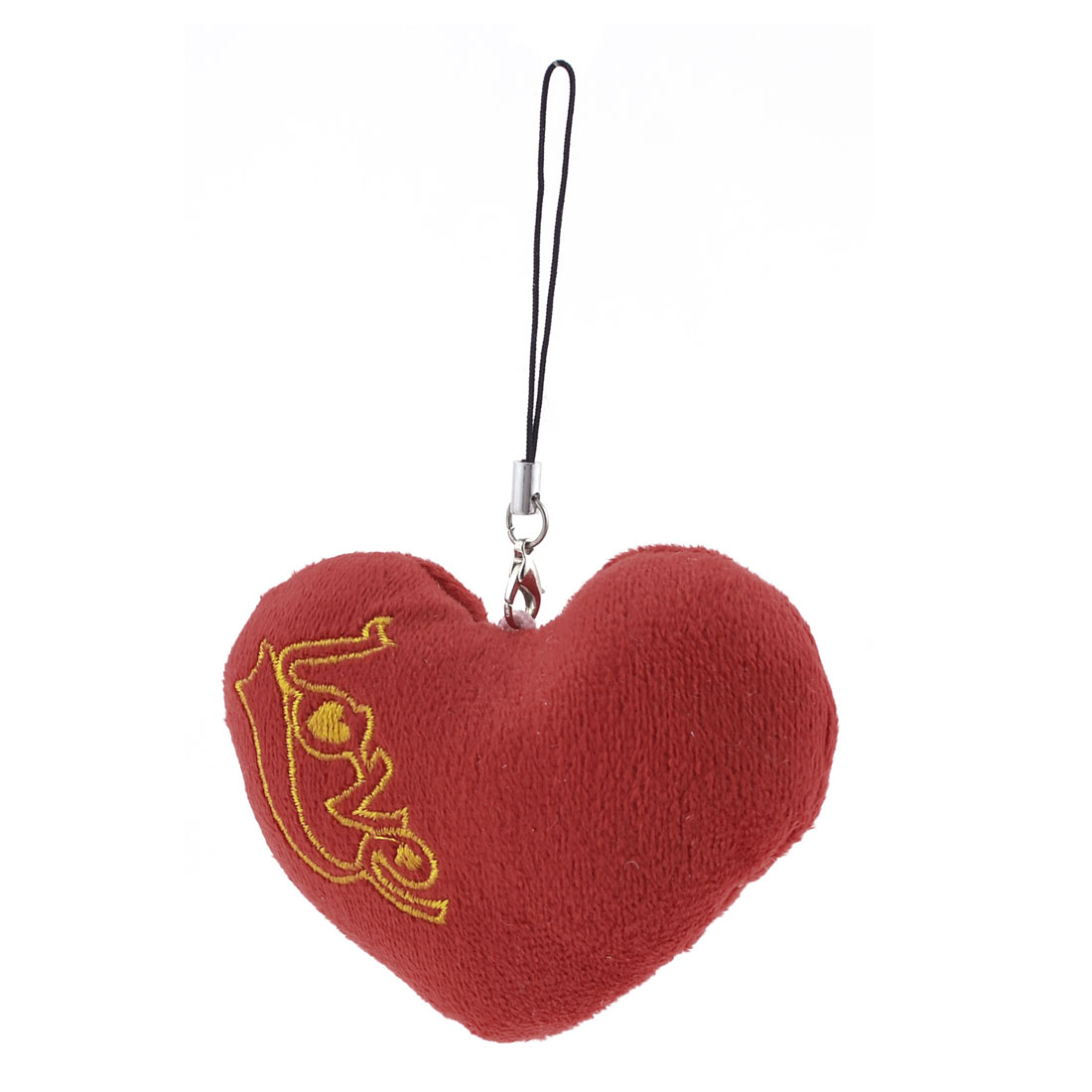 "4.7"" Length Cotton Blend Heart Shaped Pendant for Handbag"