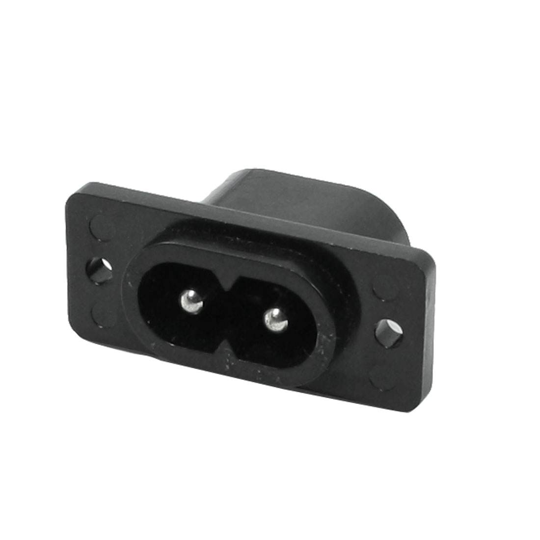 AC 250V 1A 2 Terminal IEC C8 Inlet Mains Power Male Socket