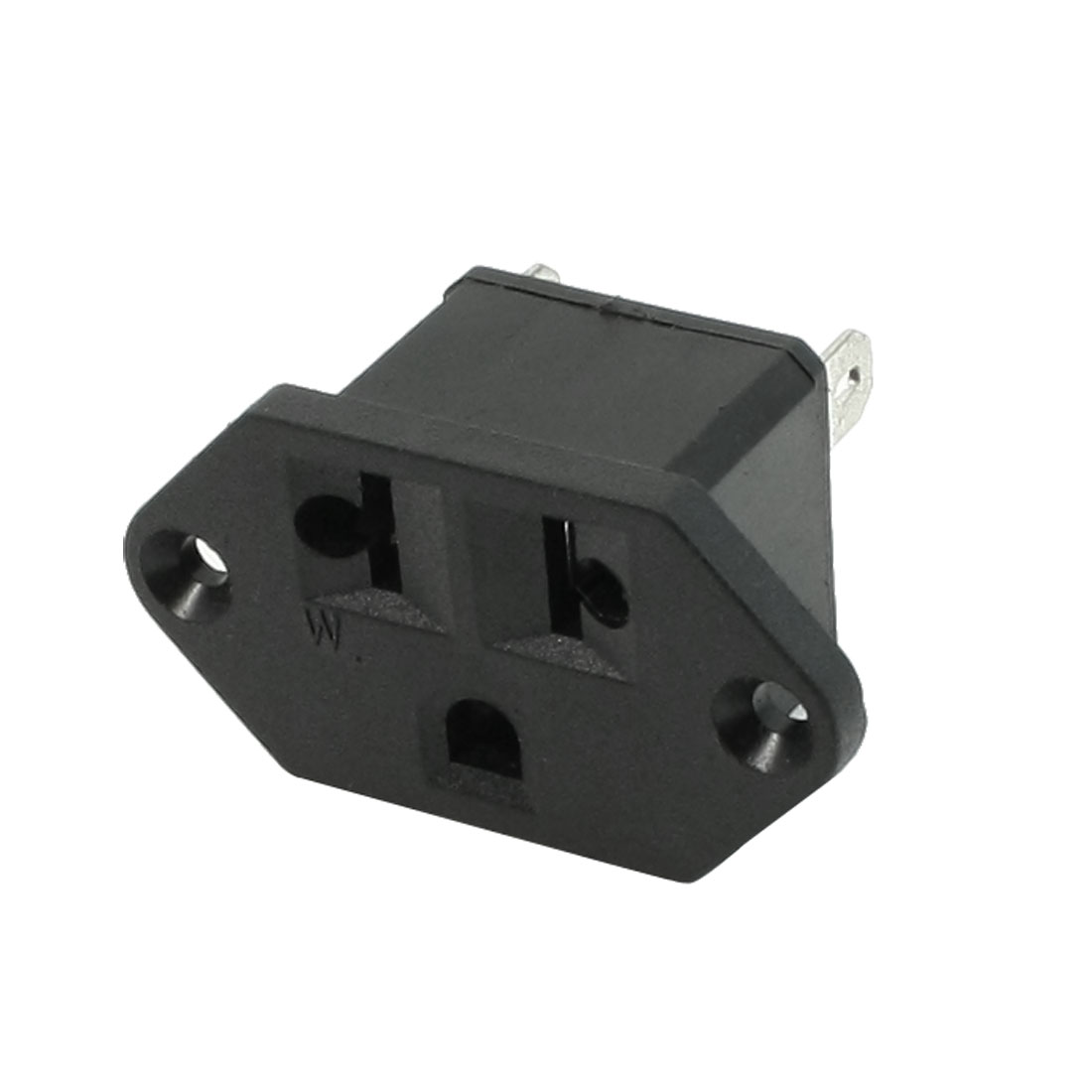 AC 125V/250V 6A Female Power Socket for 3 Terminals US EU Plug