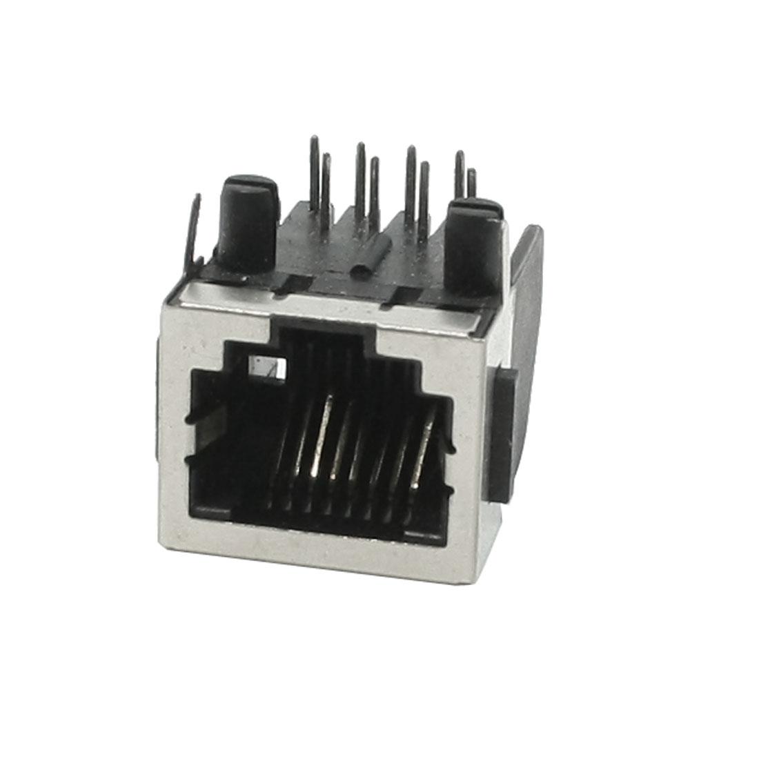 RJ45 8P8C 8 Position Modular Network PCB Jack Socket Port 18mm Length