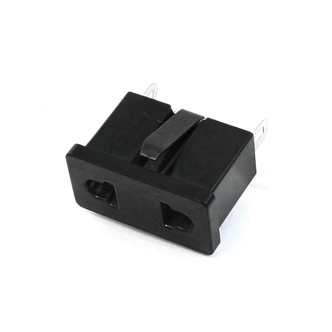AC 125V/250V 6A 2 Pin Female Connector Power Socket for US EU Plug