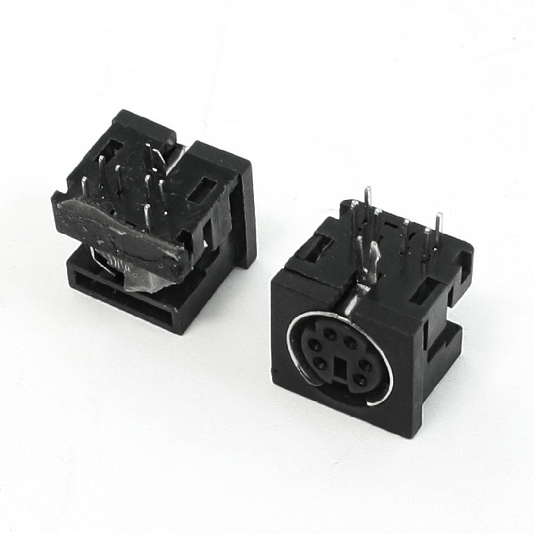 2pcs PCB Mounting Female DIN 6 Mini Pin Video Adapter Sockets
