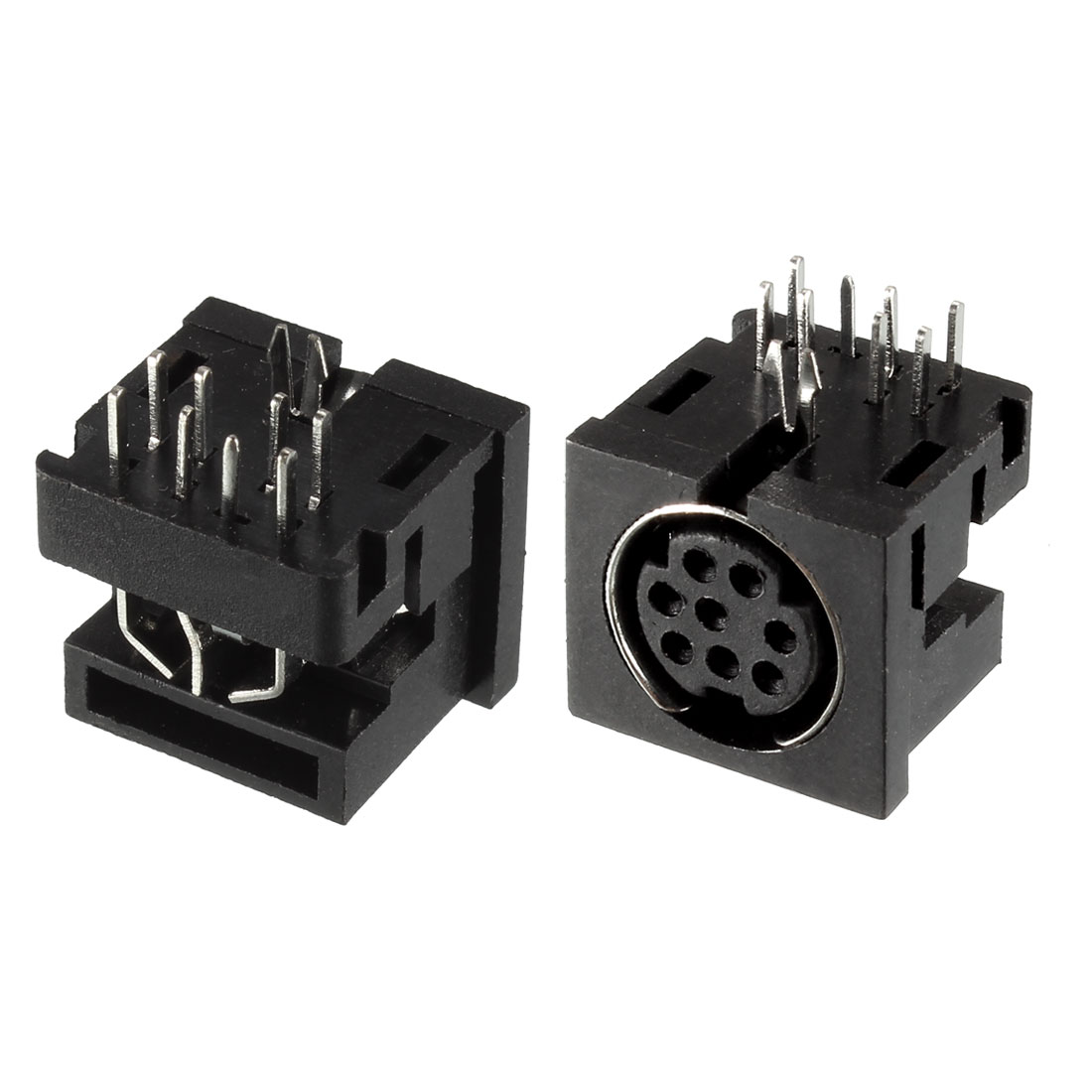 DIN 8 Pin Female S-video PCB Mounted Sockets Connectors 2 Pcs