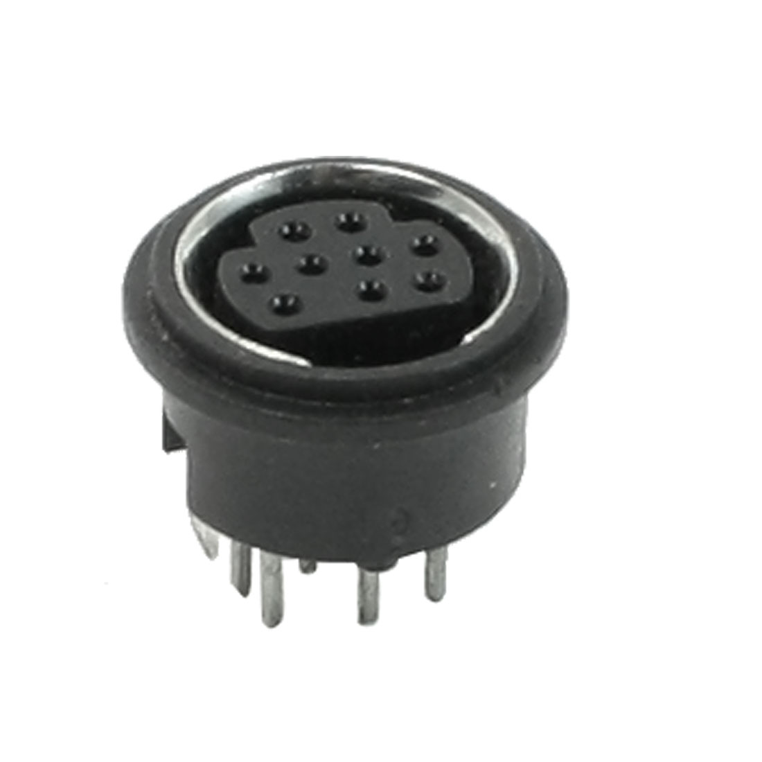Din 9 Mini Pin Female Round Top PCB Mount S-video Sockets Connectors