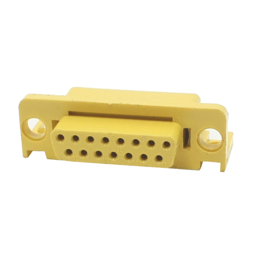 Yellow Plastic Shell without Pin for DB15 Female D-sub Connector Socket DIY