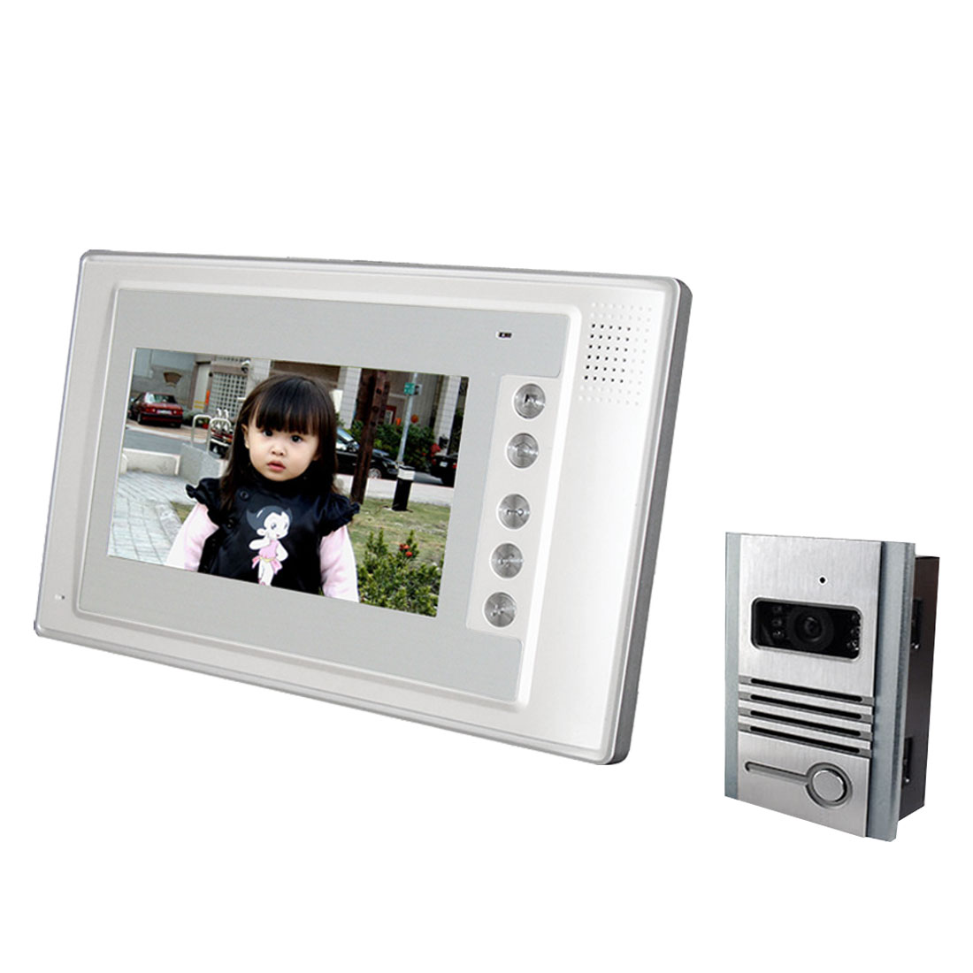 "US Plug 7"" TFT Monitor Infrared Outdoor Camera Intercom Video Door Phone Kit"