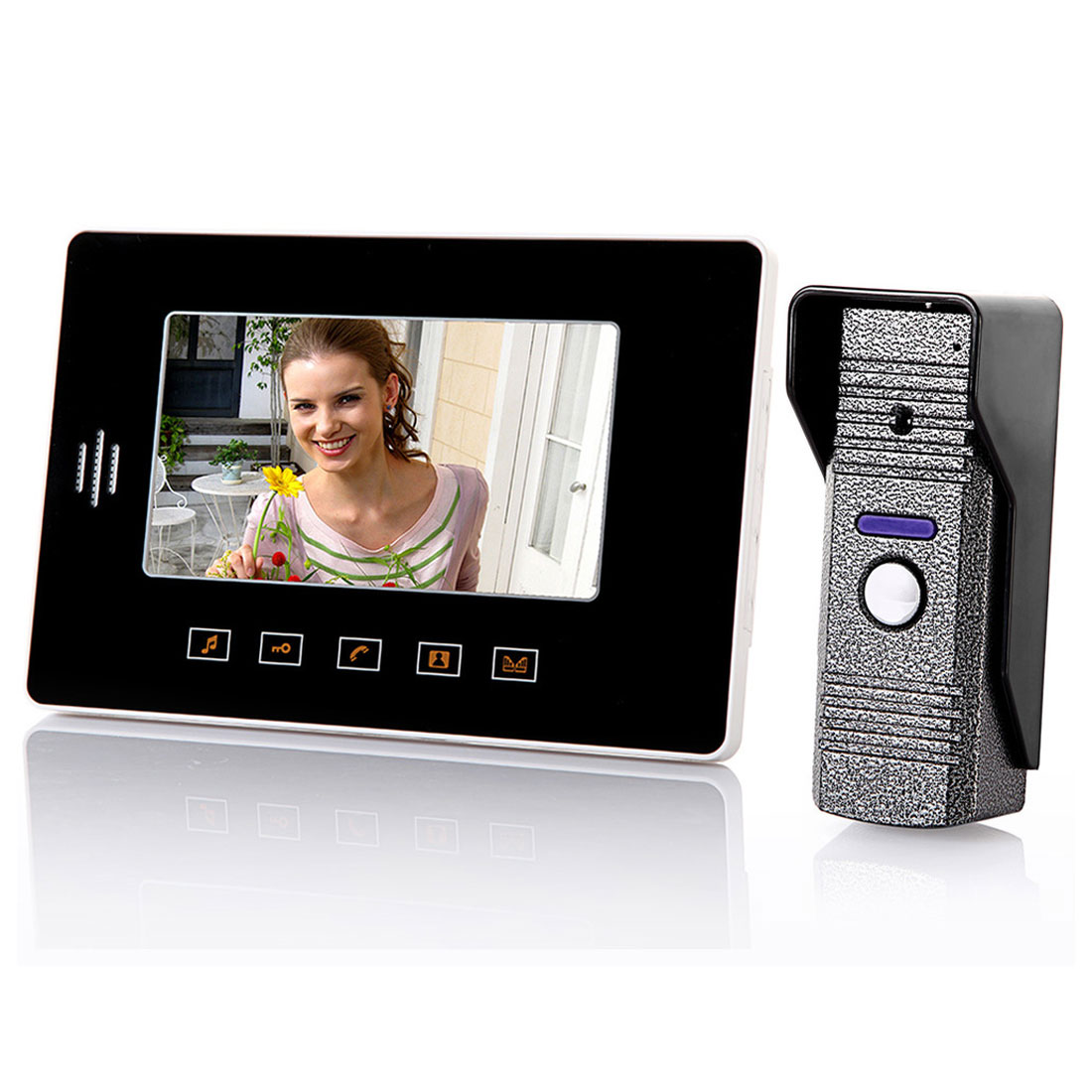 "7"" TFT Screen US Plug Intercom Home Security Video Door Phone Camera Monitor"