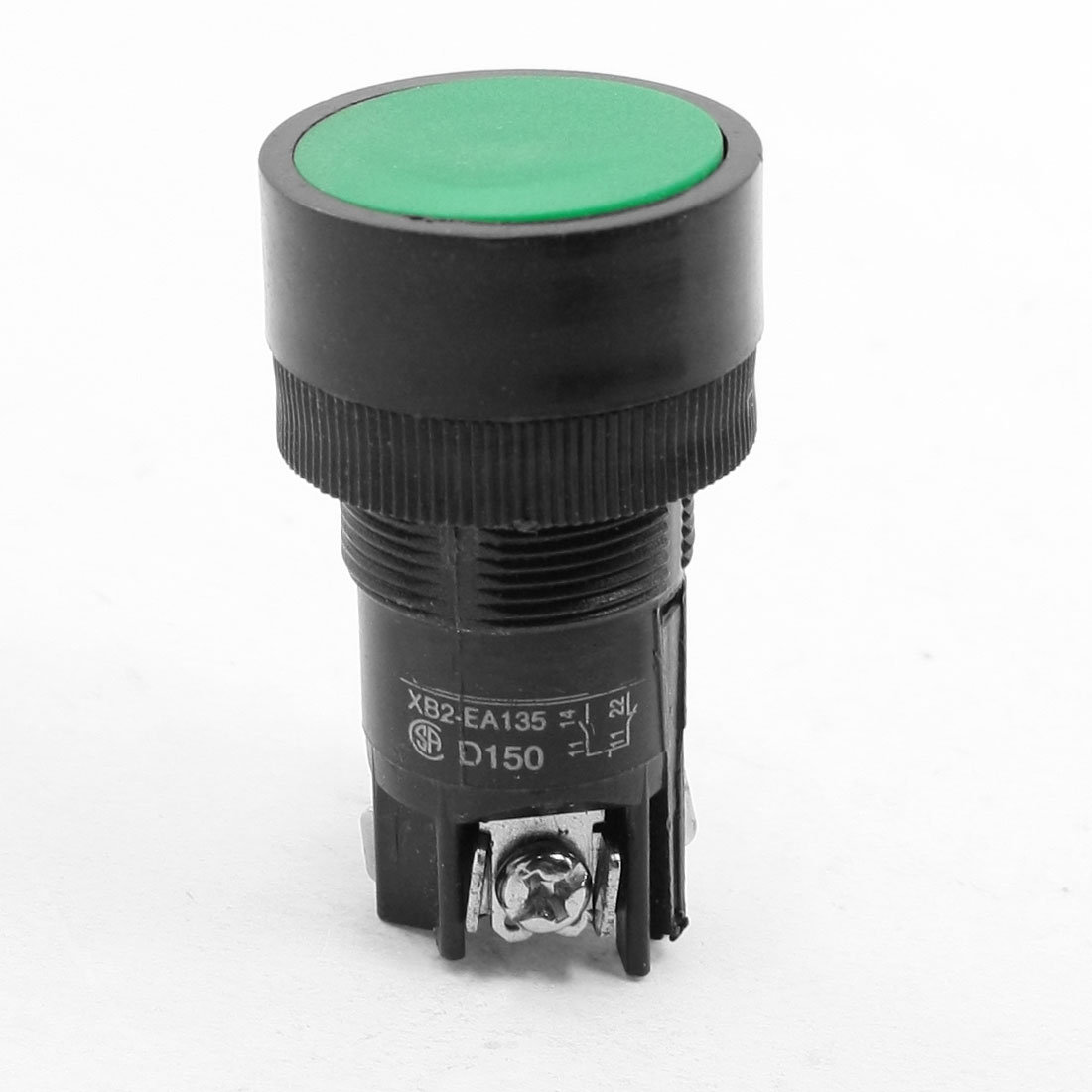 Green Top SPDT Non Locking Momentary 3 Terminals Button Switch 220-250V Volt 3A