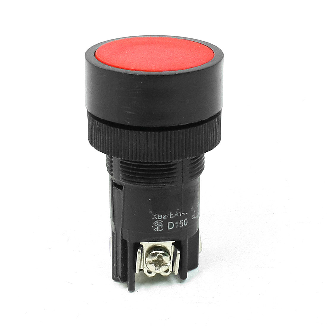 Red Flat Top Panel Mounting 3 Terminals SPDT Push Button Switch 220-250V 3A Amp