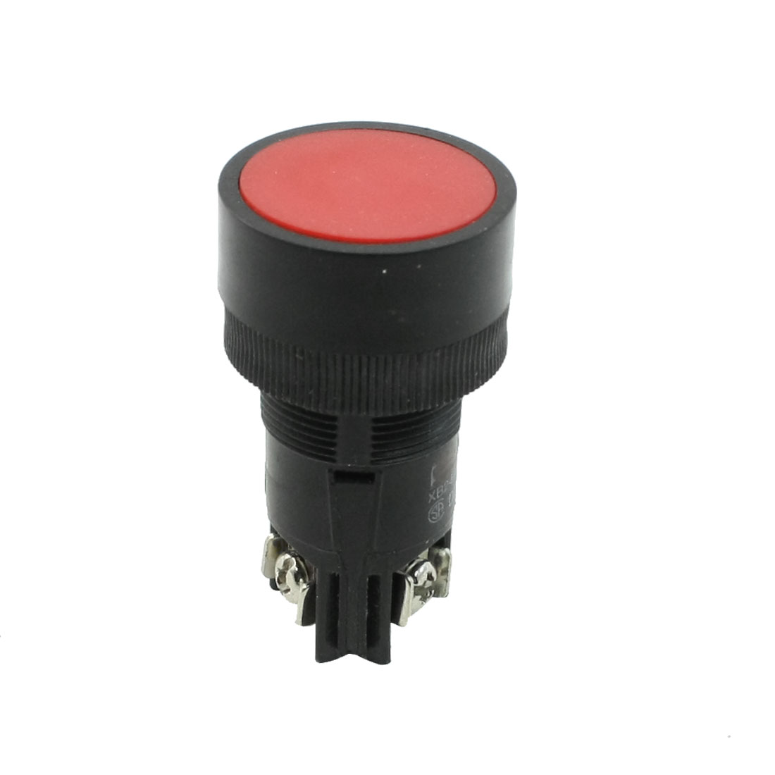 220-250V Volts 3A Red Flat Top 2 Terminals Momentary SPST Push Button Switch