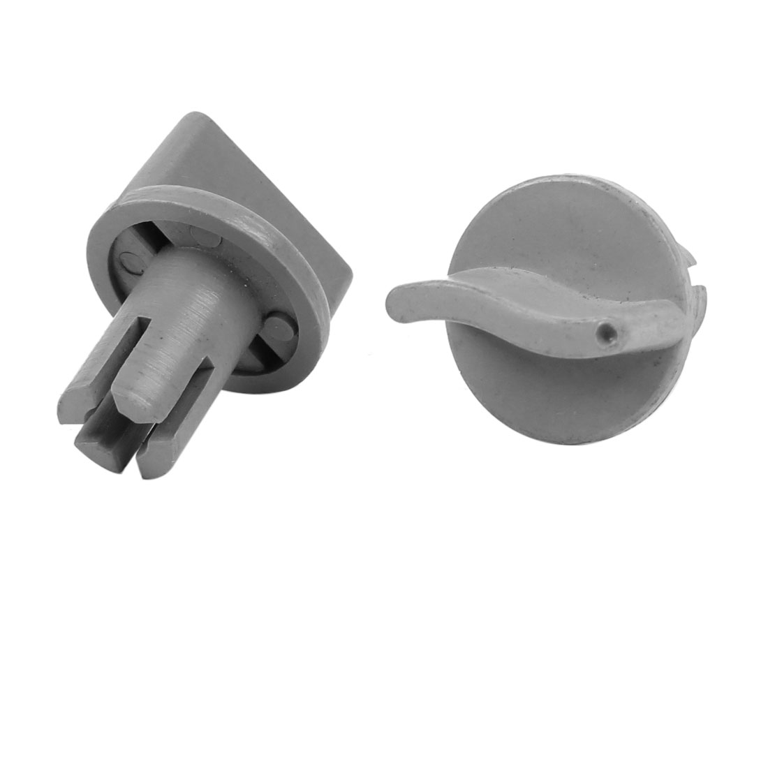 2 Pcs Gray Plastic Universal Control Knobs for Electric Fan Cooker Oven