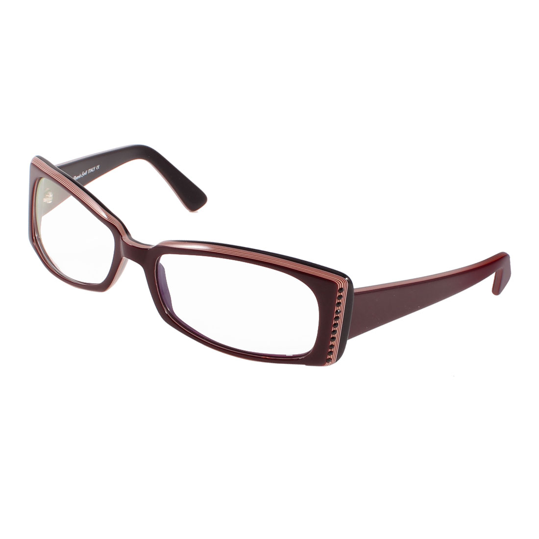 Women Ladies Full Rim Multi Coated Lens Plain Glasses Brown