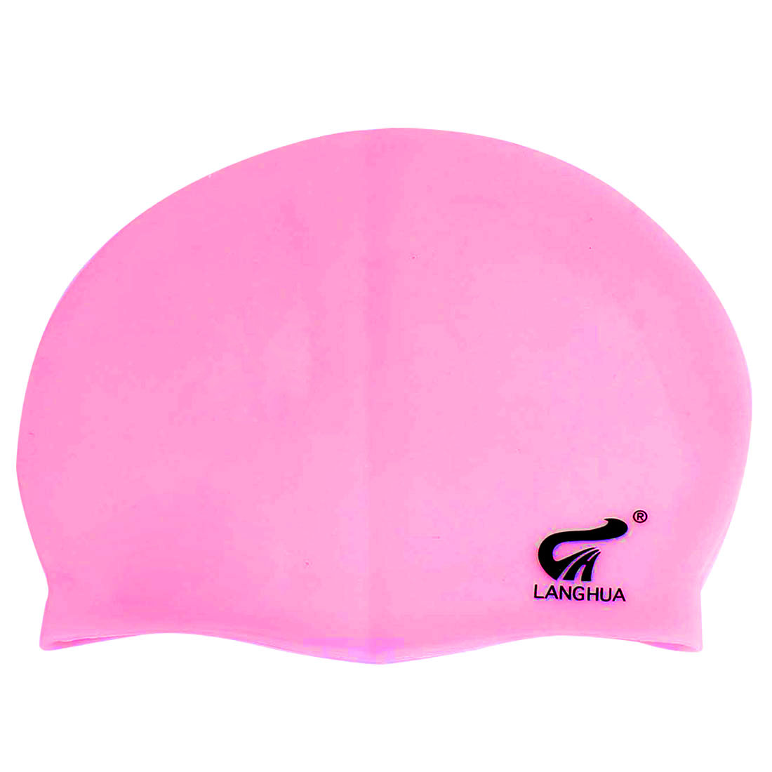 Pink Silicone Stretchy Sport Swimming Swim Cap Hat for Adults