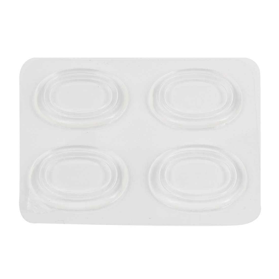 4 Pieces Clear Soft Gel Shoes Cushions Back Pads Replacement for Lady
