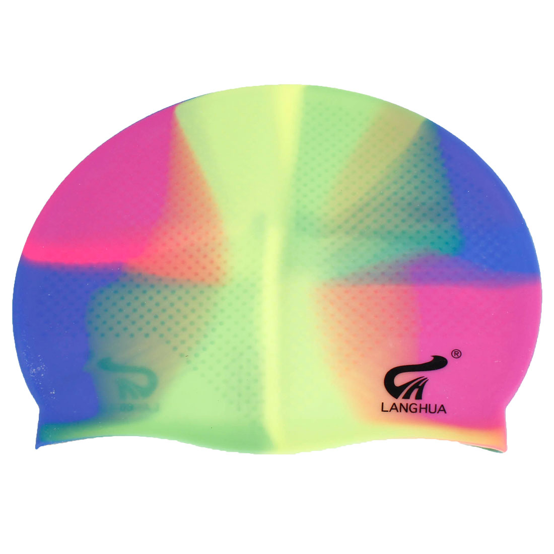 Unisex Dome Shaped Beach Pool Soft Silicone Swimming Hat Cap Assorted Color