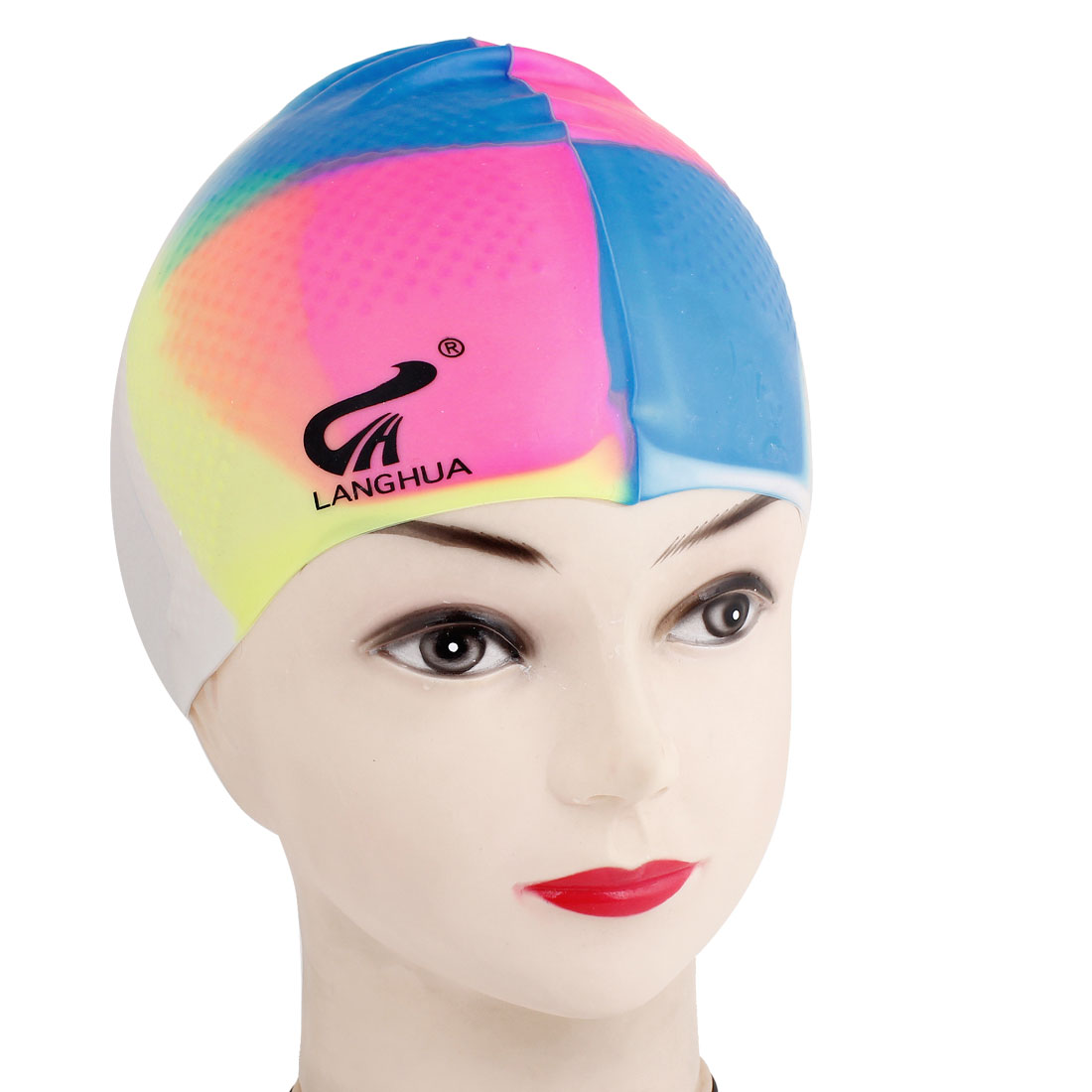 Assorted Color Soft Silicone Bathing Swim Swimming Hat Cap for Unisex