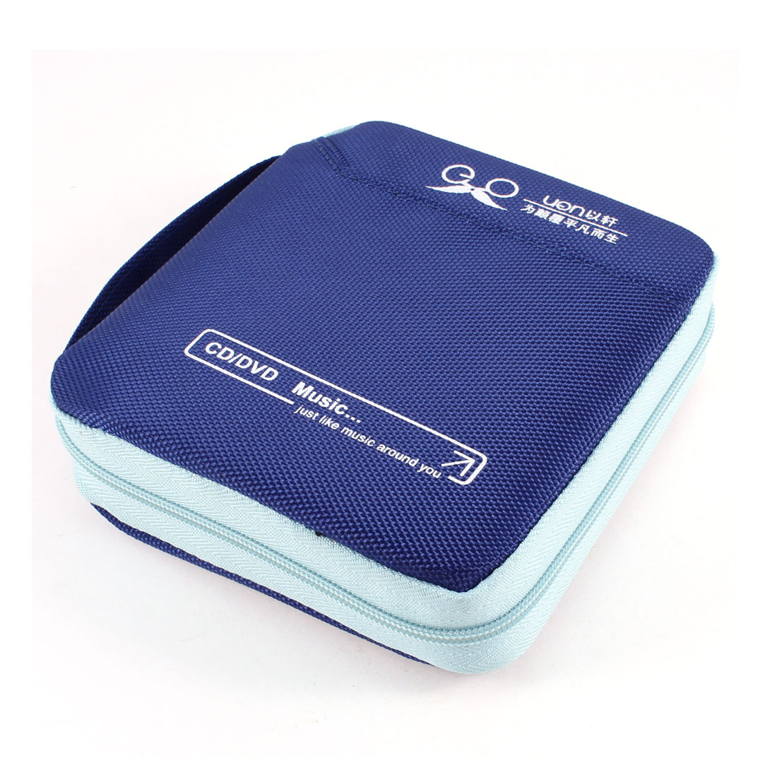 Indigo Blue 32pcs Capacity CD DVD Holder Storage Container w Hand Strap
