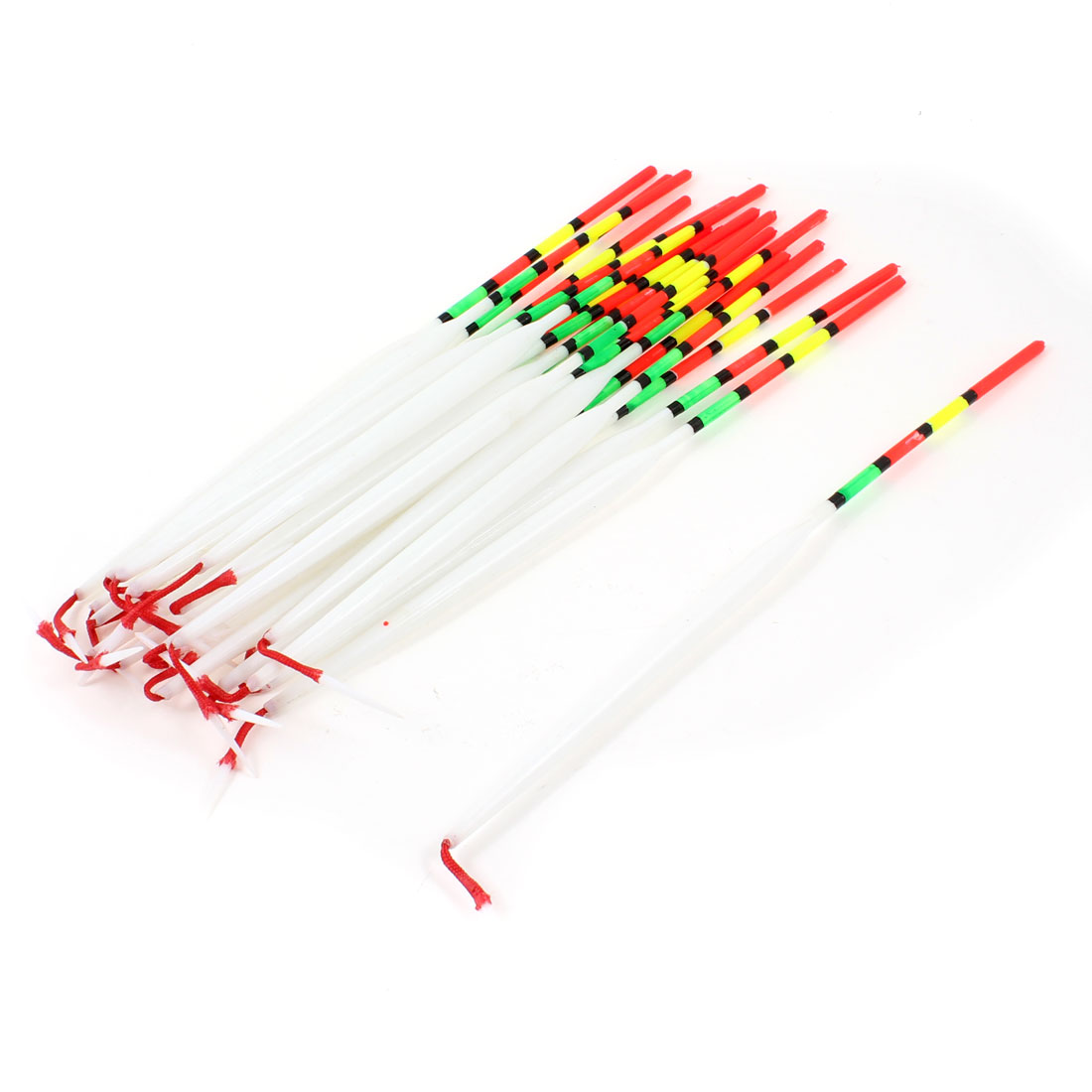 20pcs Colorful Plastic Angling Fishings Float Floating Bobbers 22cm Length