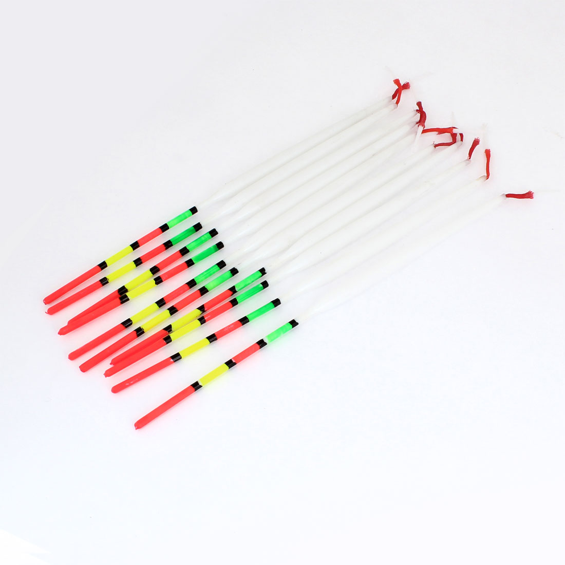 "10pcs Multicolor Plastic Angling Fishings Float Floating Bobbers 8.6"" Length"