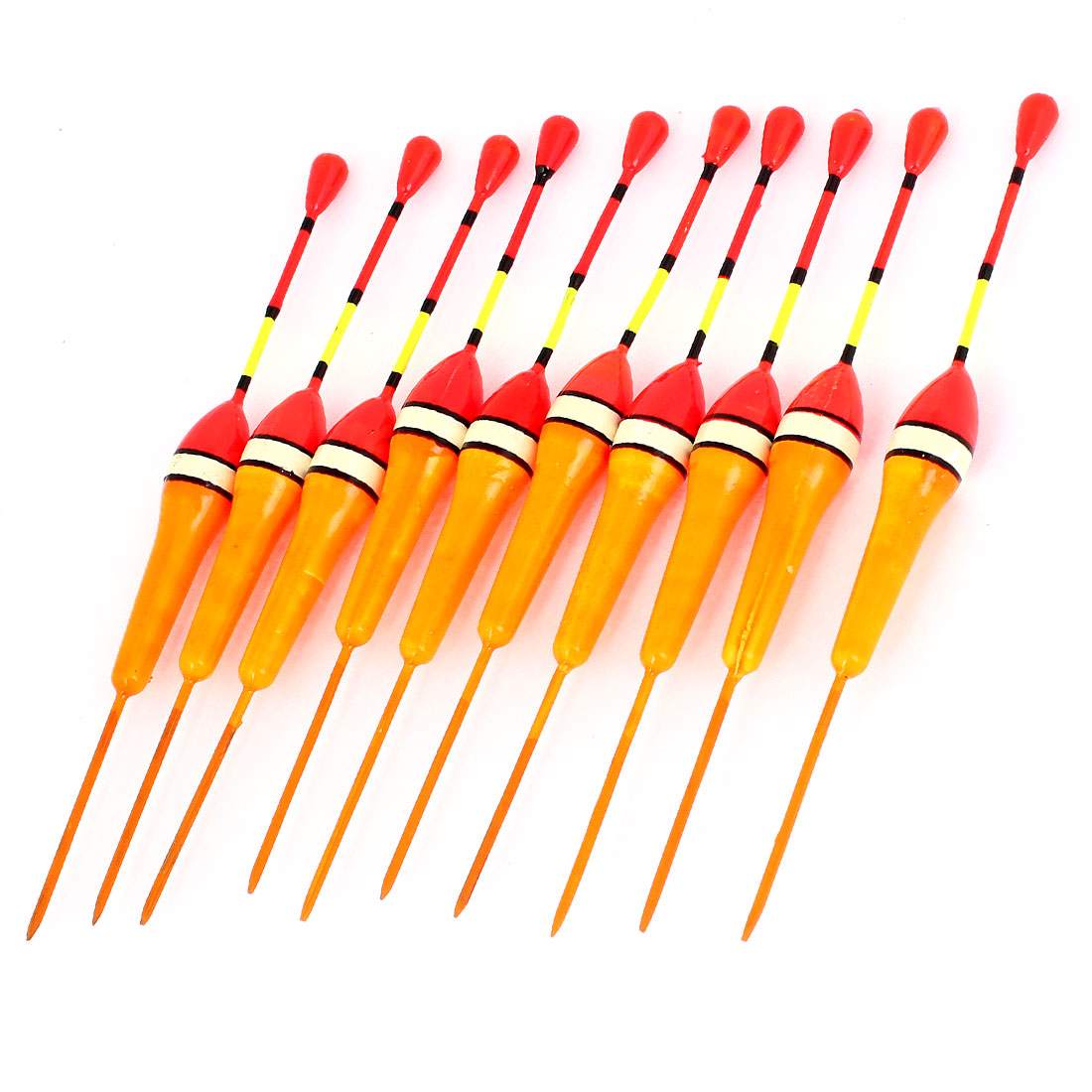 10 Pcs Multicolor Plastic Angling Fishings Float Floating Bobbers 13.5cm Length