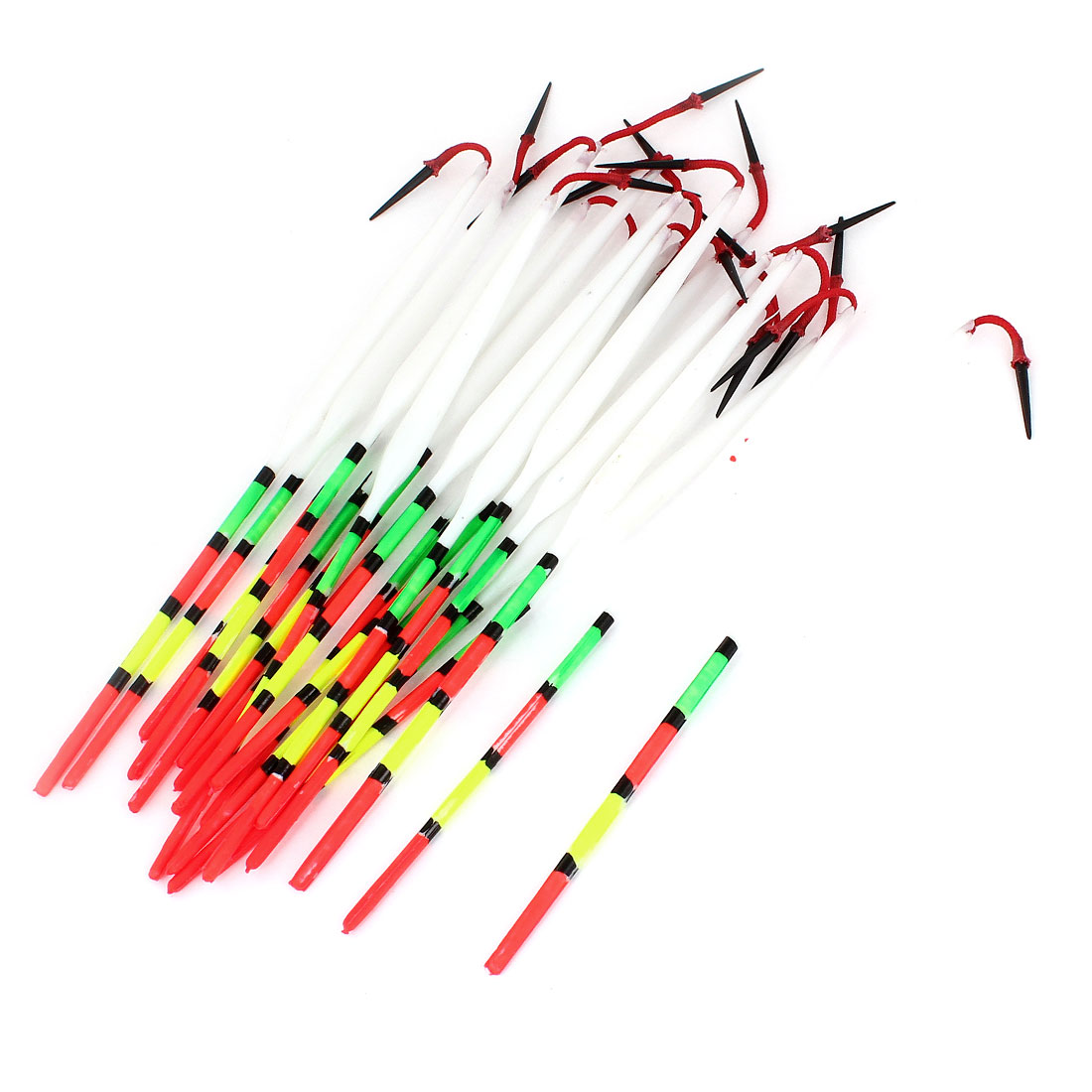 20pcs 17 cm Length Multicolor Fine Tip Plastic Fishing Float Wagglers Bobber
