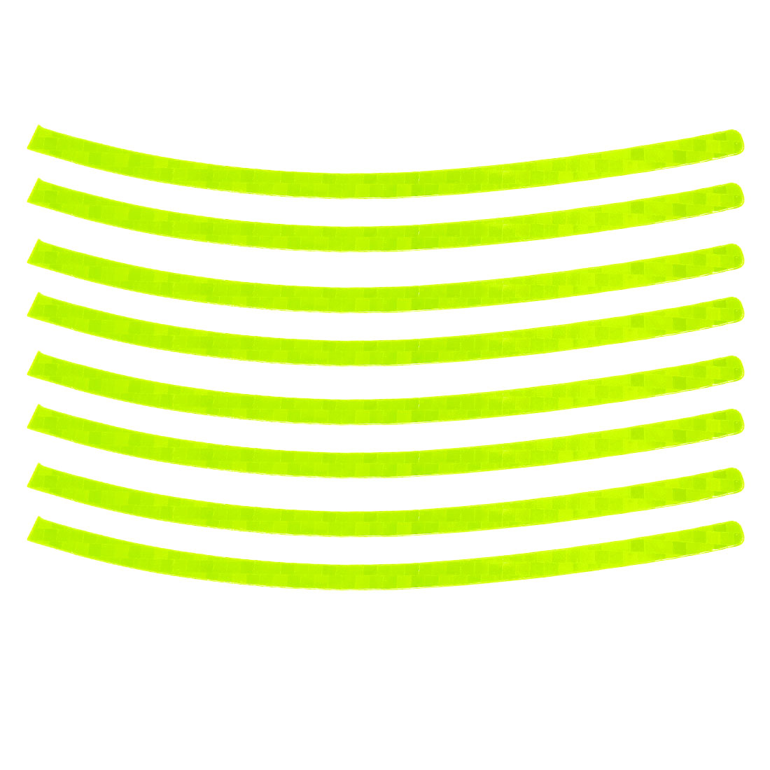 8pcs Yellow Green Self Adhesive Wheel Decals 0.8cm Width