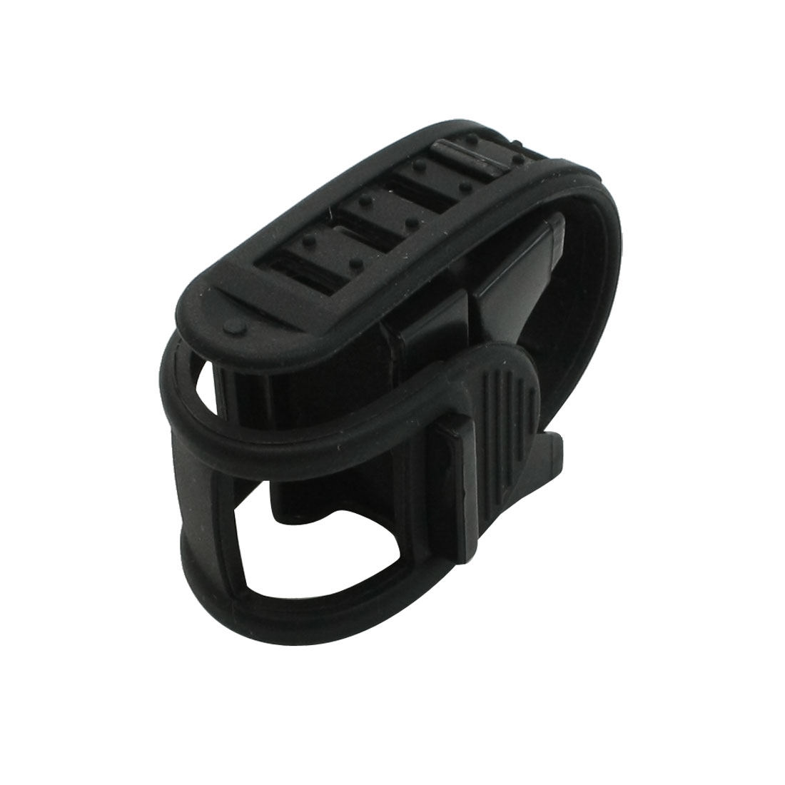 LED Flashlight Torch Holder Clip Soft Plastic Band for Bicycle Bike