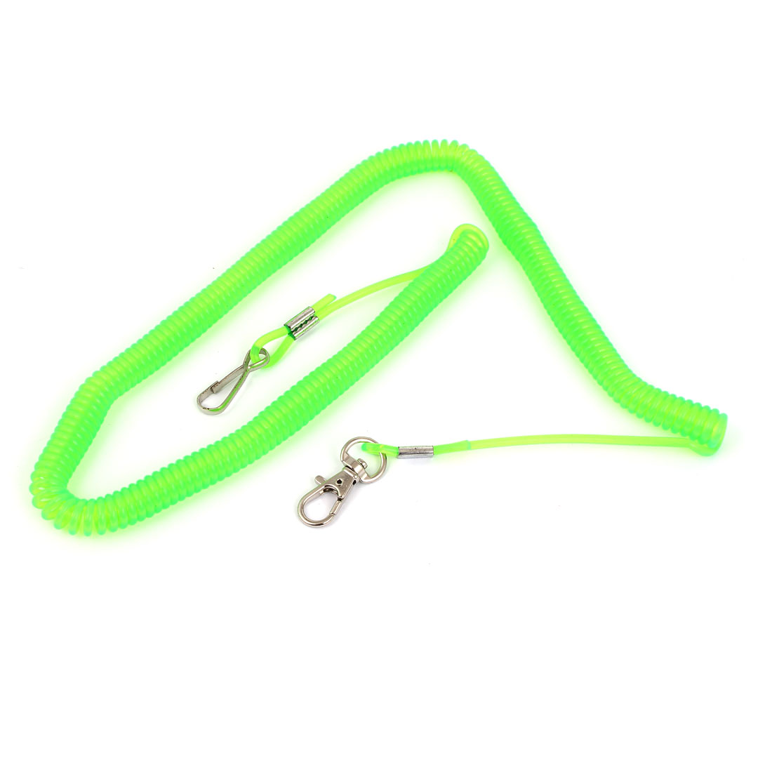 Angling Fishing Rod Lime Green Plastic Stretchy Coiled Rope Cable 4M Long