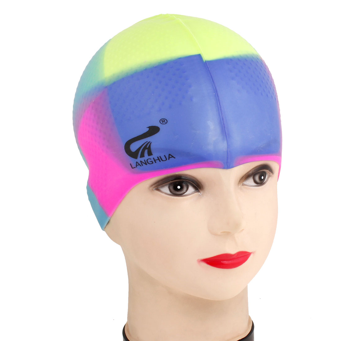 Assorted Colors Soft Silicone Waterproof Swimming Cap Hat for Unisex