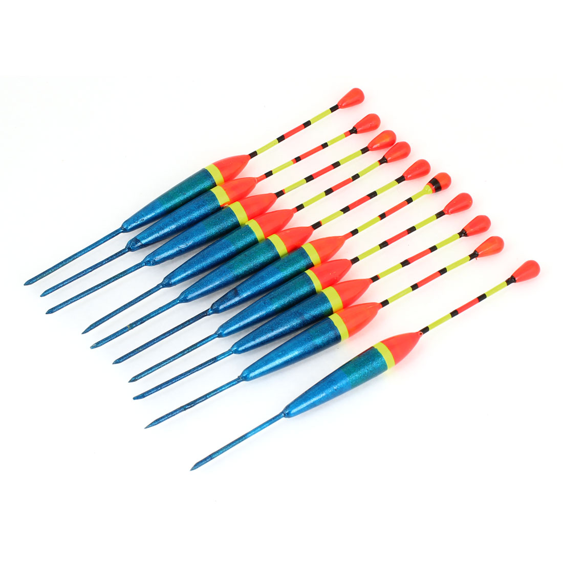 10pcs 13.5cm Length Multicolor Fine Tip Plastic Fishing Float Wagglers Bobber