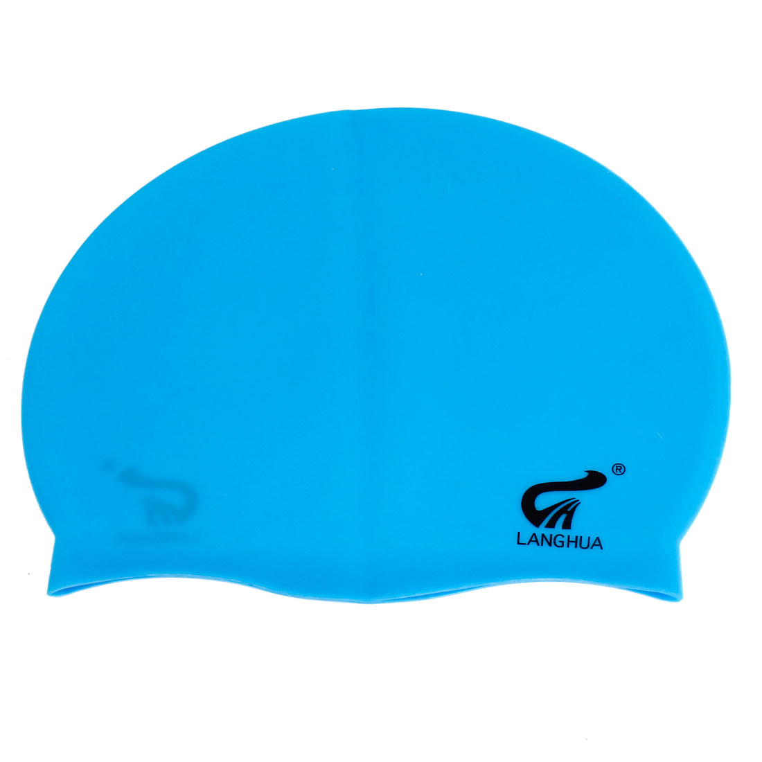 Blue Soft Silicone Elastic Swimming Swim Cap Hat for Adult