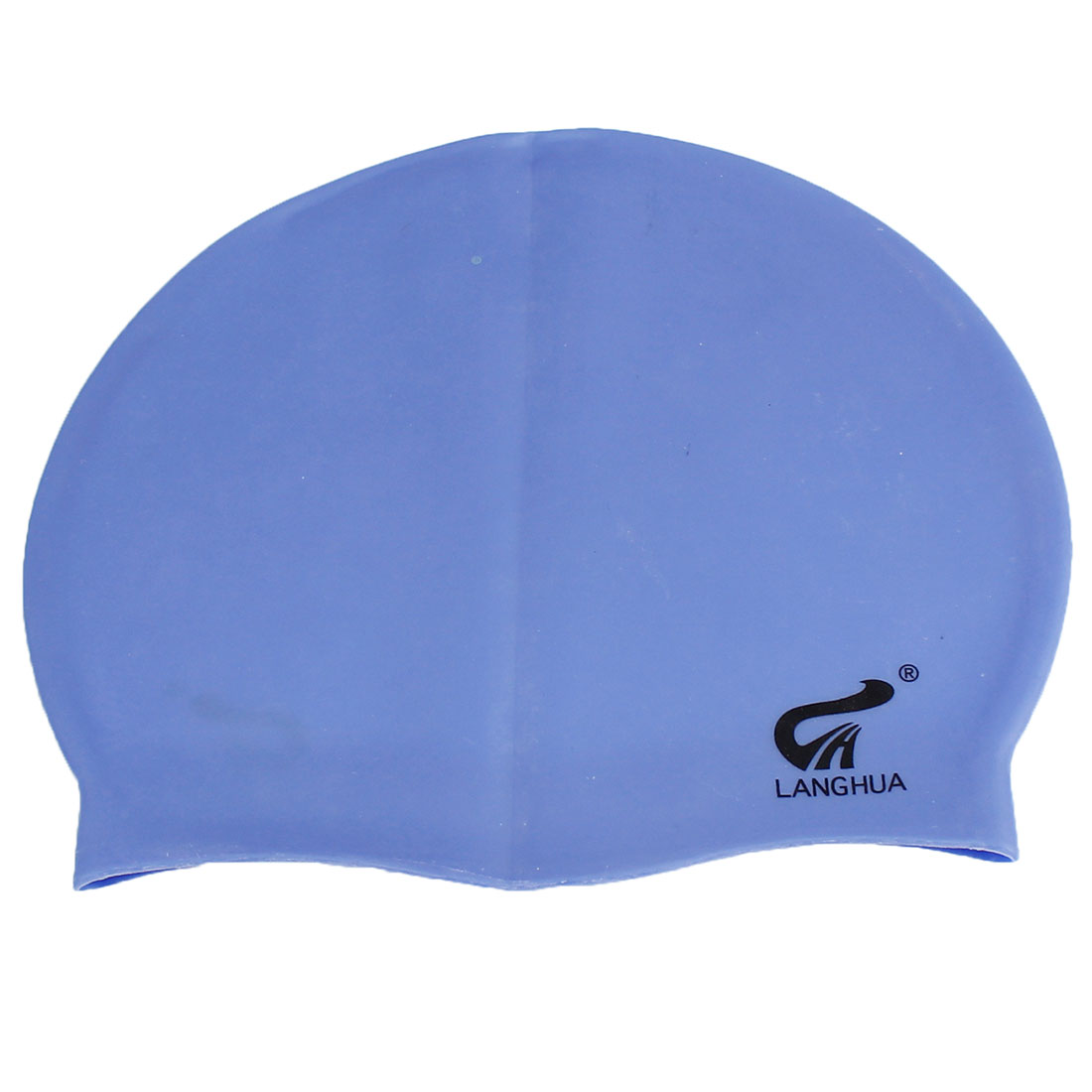 Silicone Elastic Sport Swimming Swim Waterproof Cap Hat Sky Blue for Adults