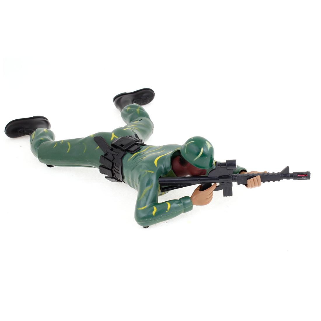 Battery Powered Army Green Black Plastic Crawling Force Toy for Children