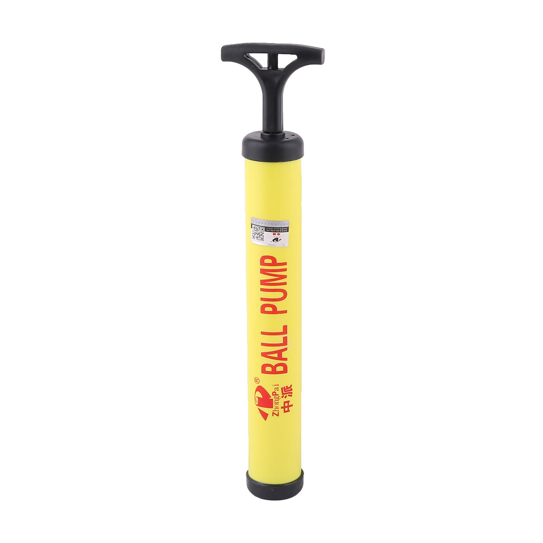 Housing Plastic Volleyball Basketball Hand Air Pump Inflator Yellow Black