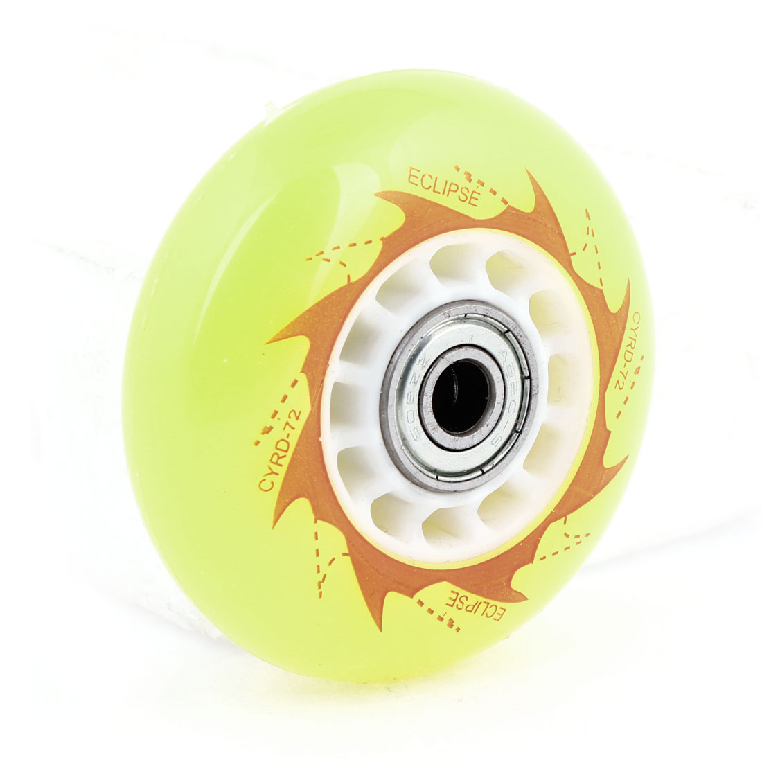 "2.76"" Dia Skating Shoes Yellow Plasitc Skate Wheel"