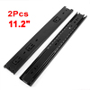 "2 Pcs Black 3 Sections Telescopic Drawer Slides Rail 45mm Width 13.7"" Length"